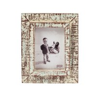 """5"""" x 7"""" Distressed White and Blue Finish Frame"""