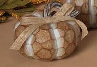 "4"" Squat Beige Polyresin Pumpkin"