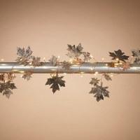 "70"" LED Birch Bark Leaf Light String"