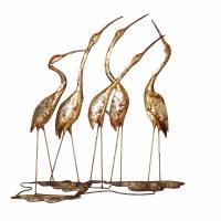 """22"""" Five Capiz Herons Plaque"""