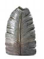 """12"""" Distressed Finish Leaf Ceramic Vase"""