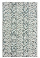 5' x 8' Blue and Green Tribal Rug