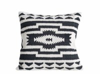 """24"""" Square Black and Natural Tribal Pillow"""