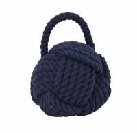 """6"""" Dark Blue Rope Ball Doorstop"""