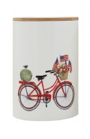 "7"" Red Bike Jar with Lid"