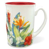 14 oz 3D Tropical Garden Mug