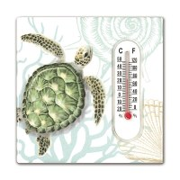 """3"""" Square Turtle Magnet With Thermoeter"""