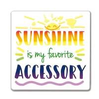 "2"" Square Sunshine Accessory Magnet"