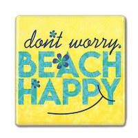 "2"" Square Beach Happy Magnet"