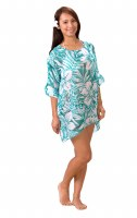Large/Extra Large Teal Tropical String Cover Up