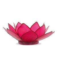 "5"" Pink Capiz Lotus Votive Candle Holder"