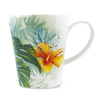13 Oz Tropical Garden Ceramic Mug