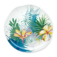 "8"" Tropical Garden Ceramic Salad Plate"
