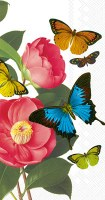 """9"""" x 5"""" Camellia with Butterfly Guest Towels"""