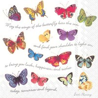 """5"""" Square Butterfly Irish Blessing Beverage Napkins"""