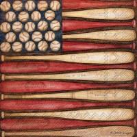 "5"" Baseball Flag Beverage Napkins"