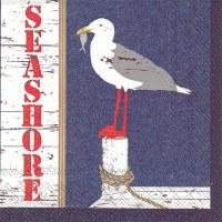 "5"" Square Seashore Seagull Beverage Napkins"