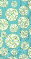 "9"" x 5"" Green Sea Urchins on Toruquise Guest Towels"