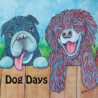 "5"" Dog Days Beverage Napkins"
