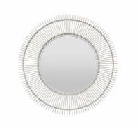 """43"""" Round White Sticks Mirror"""