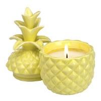 6 Oz Single Wick Margarita Candle In Pineapple Jar