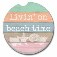 Car Coaster Livin' On Beach Time