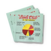 "5"" Book Club Beverage Napkin"