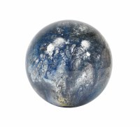 "5"" Blue Gray Orb Glass"