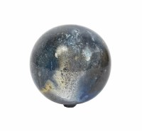 "4"" Blue Gray Orb Glass"