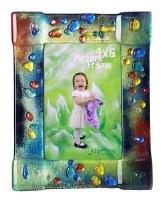 "4"" x 6"" Multicolor Dots On Multicolor Glass Frames"