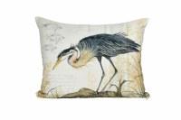 "19"" x 24"" Heron On Log Pillow"