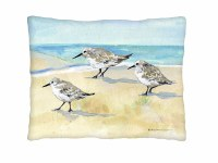 """19"""" x 24"""" Sandpipers on Beach Pillow"""