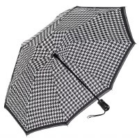 Houndstooth Folding Umbrella Reverse
