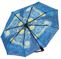 Starry Night Folding Umbrella Reverse