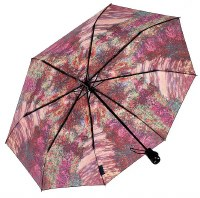 Monet's Garden Folding Umbrella Reverse