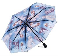 Cats & Dogs Folding Umbrella Reverse