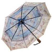 Beach Scene Folding Unbrella Reverse