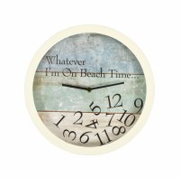 "12"" Round Beachtime Clock"