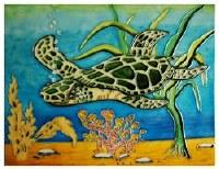 "11"" x 14"" Turtle Tile"