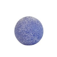 "4"" Frosted Dark Blue Glass Orb"