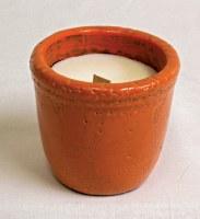 "4"" Outdoor Vanilla Citronella Candle Pot"