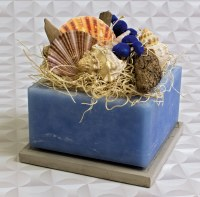 "4"" Square Beachcomber Wax Box"