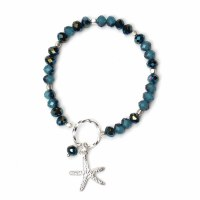 Navy and Silver Starfish Bracelet
