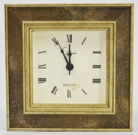 "4"" Square Iridescent Cambridge Clock"