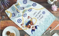 "30"" x 18"" Captain Chihuahua Kitchen Towel"