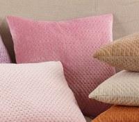 """18"""" Square Dusty Rose Velvet Pillow"""