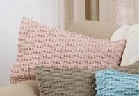 "20"" x 12"" Rose Nubby Pillow"