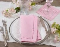 """20"""" Pink Hemstitch Napkin"""