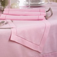 "72"" Pink Hemstitch Runner"
