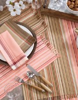"""19"""" x 13"""" Salmon Lines and Dots Placemat"""